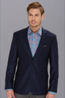 Moods of Norway Classic Fit Rune Tonning Blue Silk Suit Jacket