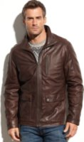 Nautica Glove Touch Leather Jacket