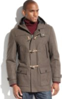 Nautica Hooded Wool-Blend Water-and-Wind Resistant Toggle Coat