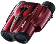 Nikon 8-24x25 Aculon T11 Weather Resistant Porro Prism Binocular with 4.6 Degree Angle of View Red Finish