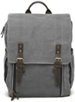 ONA Camps Bay Camera and Laptop Backpack Handcrafted with Waxed Canves & Leather for up to 17  Laptops - Smoke