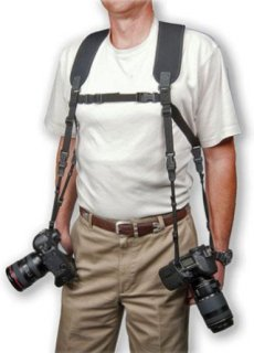 Op/Tech Dual Harness Carries Two Cameras or Binoculars Size Regular Black.