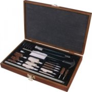Outers 28-Piece Gun Cleaning Kit With Wood Box