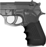 Pachmayr No.2 Large Slip-On Grip with Finger Grooves for Auto Pistols Black
