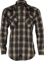 Panhandle Slim 90 Proof by Panhandle Slim Plaid and Embroidered Cross Western Shirt