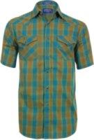 Pendleton Short Sleeve Plaid Print Western Shirt