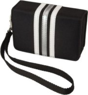 Pentax Fashion Wrist Case Black with White Stripes