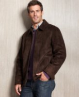 Perry Ellis Collection Faux-Shearling Coat