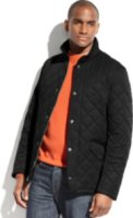 Perry Ellis Collection Quilted Corduroy-Collar Performance Jacket