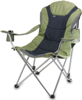 Picnic Time Reclining Camp Chair- Sage Green