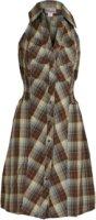 Pink Cattlelac Halter Neck Plaid Dress