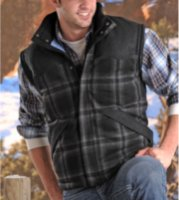 Powder River Outfitters Glendale Plaid Wool Vest
