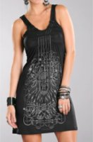 Rock and Roll Cowgirl Black Chain Knit Dress