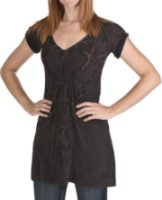 Rock and Roll Cowgirl Cross Applique Distress Dress
