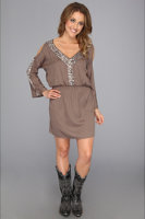 Rock and Roll Cowgirl Cutout Shoulder Sparkle Dress