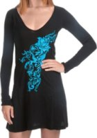 Rock and Roll Cowgirl Embroidered Jersey Dress