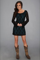 Rock and Roll Cowgirl Long Sleeve Lace Dress