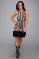Rock and Roll Cowgirl Sleeveless Snakeskin Print Dress