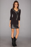 Rock and Roll Cowgirl Sparkle Knit Dress