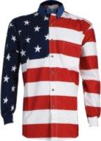 Roper American Flag Long Sleeve Western Shirt