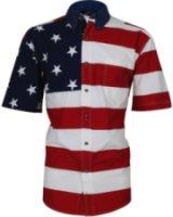 Roper Short Sleeve American Flag Western Shirt