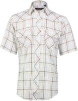 Roper Short Sleeve Plaid Print Western Shirt