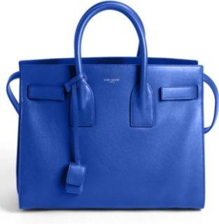 Saint Laurent Sac de Jour - Small Leather Tote Bleu Majorelle