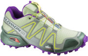 Salomon Speedcross 3 Trail Running Shoes Green Tea/Chalk Grey