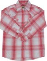 Shyanne Long Sleeve Plaid Print Western Shirt