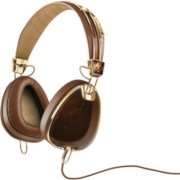 Skull Candy Aviator Headphone With 3 Button Remote - Brown/Gold