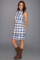 Stetson 8638 Ombre Lurex Plaid Sleeveless Dress