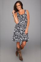 Stetson 8664 Printed Burnout Sleeveless Dress