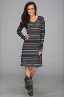 Stetson 8951 Striped Sweater Knit Dress