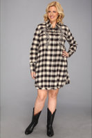 Stetson Plus Size 8901 Deco Ombre Plaid Dress