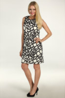 Suzi Chin for Maggy Boutique Abstract Sequined Shift Dress
