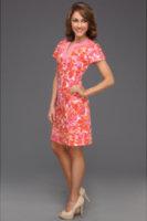 Tahari by ASL Cotton Poplin Dress