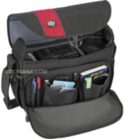 Tamrac 3446 Rally 6 Camera Bag for DSLR with 6 inch Lens Attached Extra Lens and Flash Black/Red