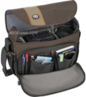 Tamrac 3446 Rally 6 Camera Bag for DSLR with 6 inch Lens Attached Extra Lens and Flash Brown/Tan