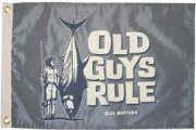 Taylor Made Old Guys Rule Novelty Flag - Size Matters