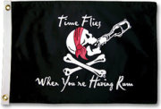Taylor Made Time Flies Flag Pirate Flags