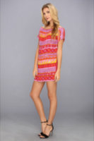 Tbags Los Angeles Aztec Sequin Embellished Mini Dress