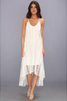 Tbags Los Angeles High-Low Crochet Cami Dress w/ Braided Strap