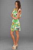 Tbags Los Angeles V-Neck Sleeveless Dress with Drape Open Back