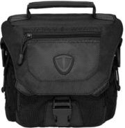 Tenba Vector 1 Small Shoulder Bag Accommodates DSLR with 1-2 Lenses Flash and Accessories Carbon Black