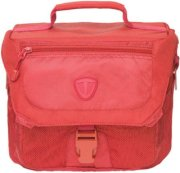 Tenba Vector 3 Large Shoulder Bag Accommodates DSLR with 3-4 Lenses Flash and Accessories Cadmium Red
