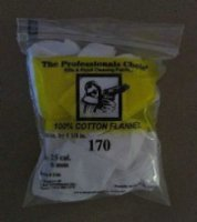 The Professionals Choice Round Flannel Patch: 25 cal. / 6mm