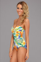 Tommy Bahama Happy Hawaii Shirred Bandeau Cup One Piece