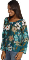 Tommy Bahama Painted Gardenias Top