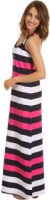 Tommy Bahama Regatta Bold Stripe Long Tank Dress Cover Up