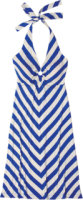 Tommy Bahama Tambour Mitered Touch Halter Dress